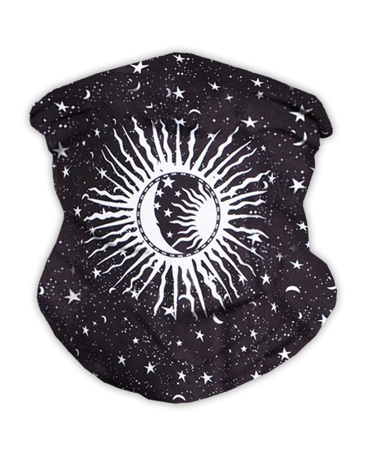 Sun & Star Print Breathable Face Bandana Magic Scarf Headwrap Balaclava