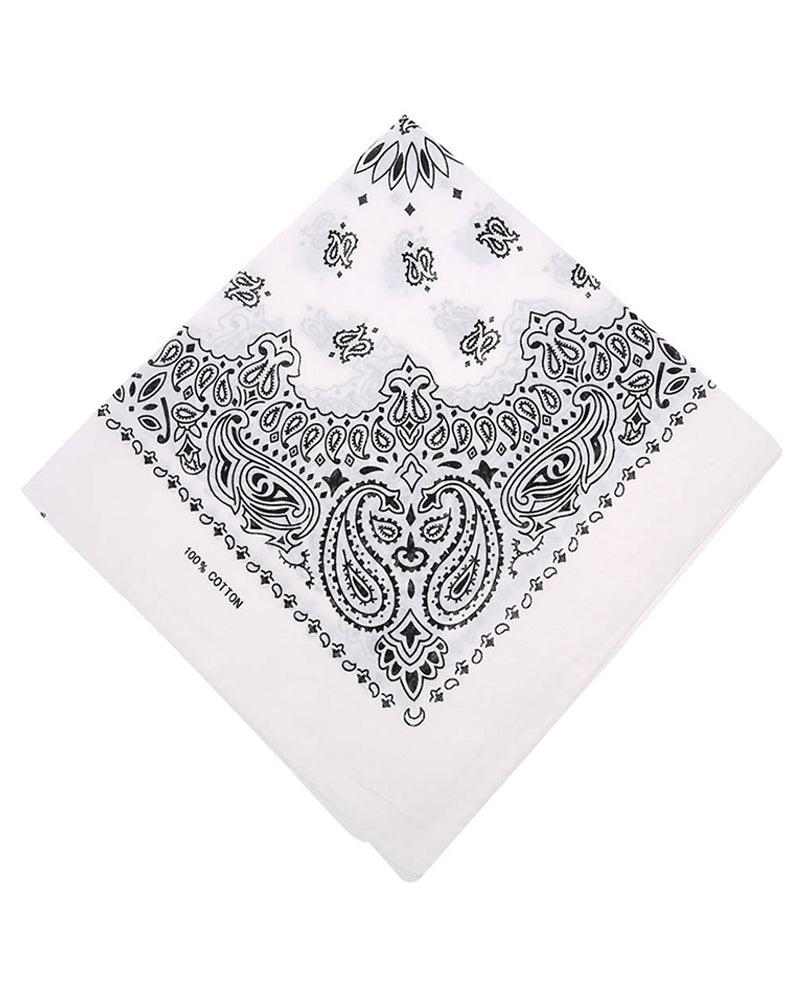 6PCS 100% Cotton Paisley Bandana Scarf Head Wrap