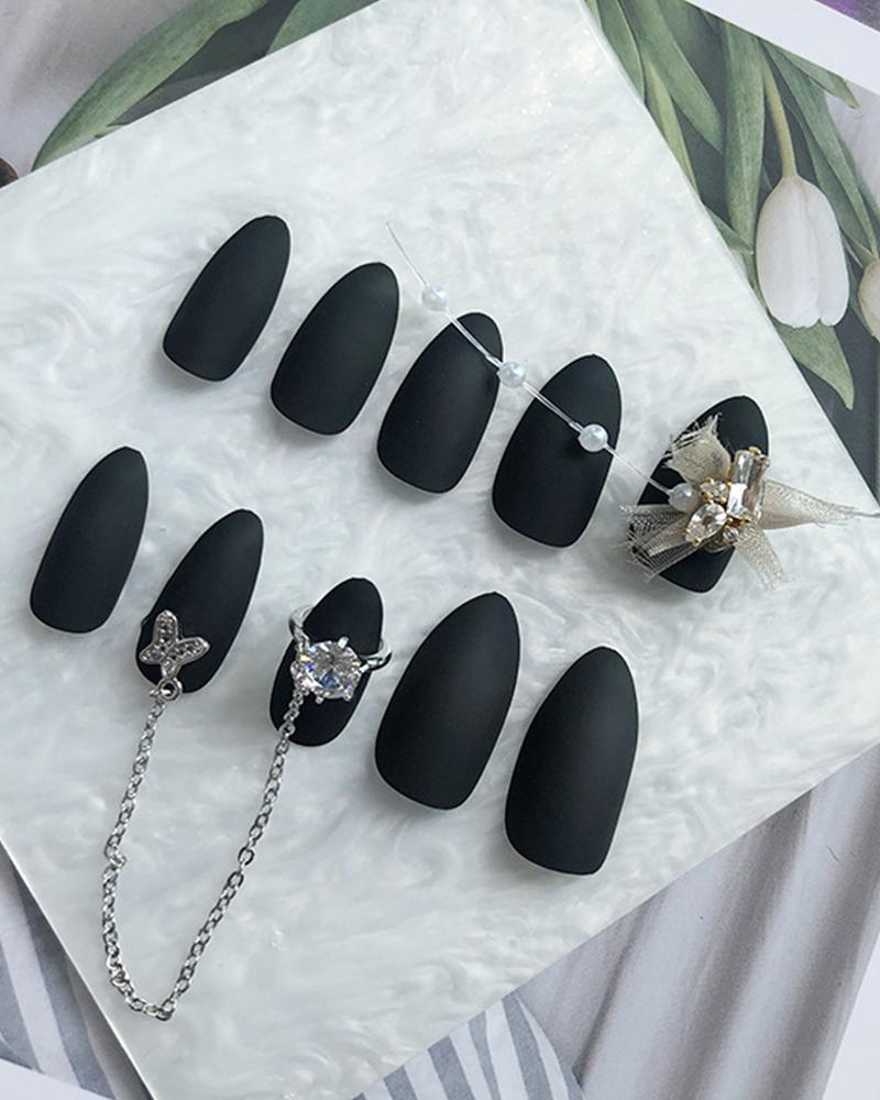 Cool Black Chain Nail Patch