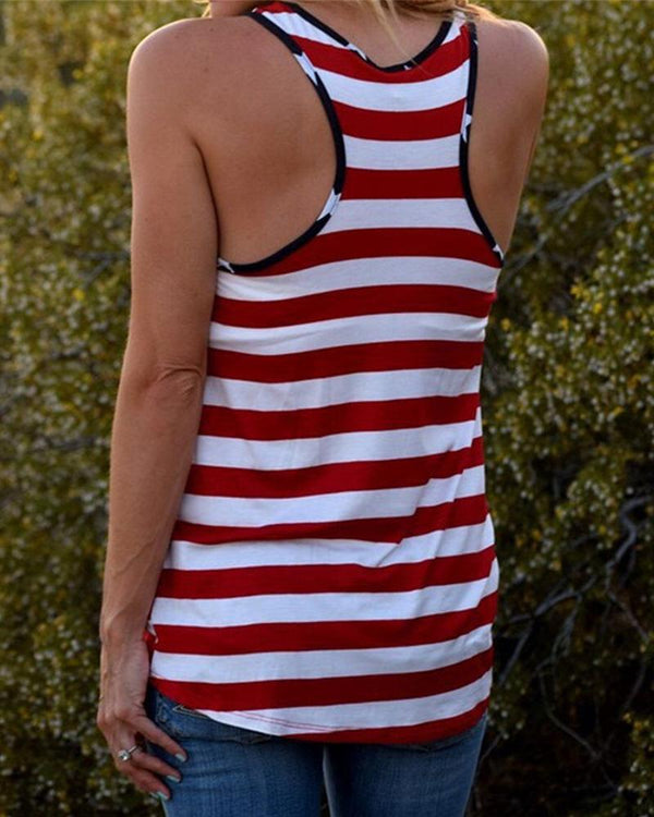 American Flag Pocketed Tank Top
