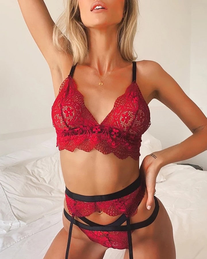 Lace Tied Spaghetti Strap Teddies