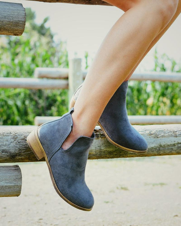 Casual Brief Suede Ankle Boots