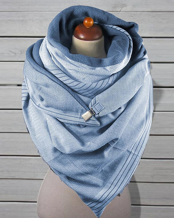 Casual Solid Color Printing Scarf