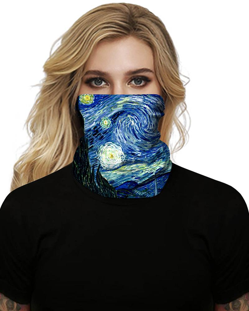 Impressionist Art Breathable Face Bandana Magic Scarf Headwrap Balaclava