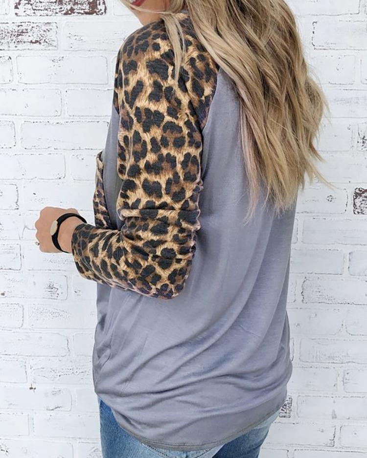 Leopard Print Long Sleeve T-Shirt