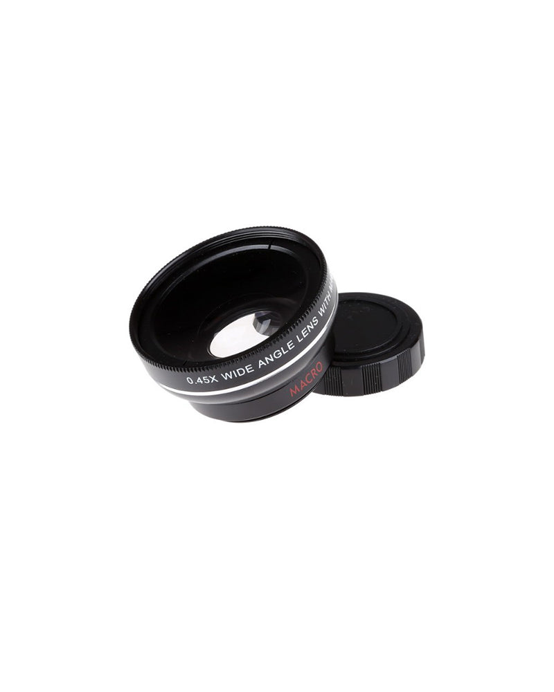 Universal Phone Professional 37MM 0.45X 49UV Super Wide Angle + Macro Clip Lens
