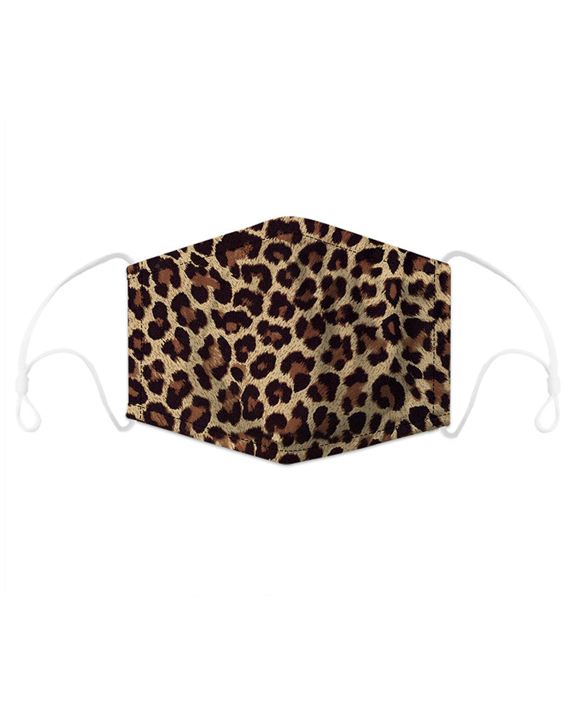 Leopard Print Mouth Mask Breathable Washable And Reusable With Replaceable Filter