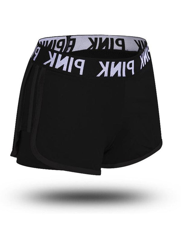 Side Contrast Yoga Shorts