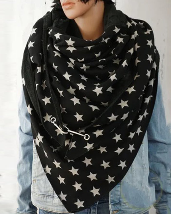 Casual Star Printing Thicken Scarf