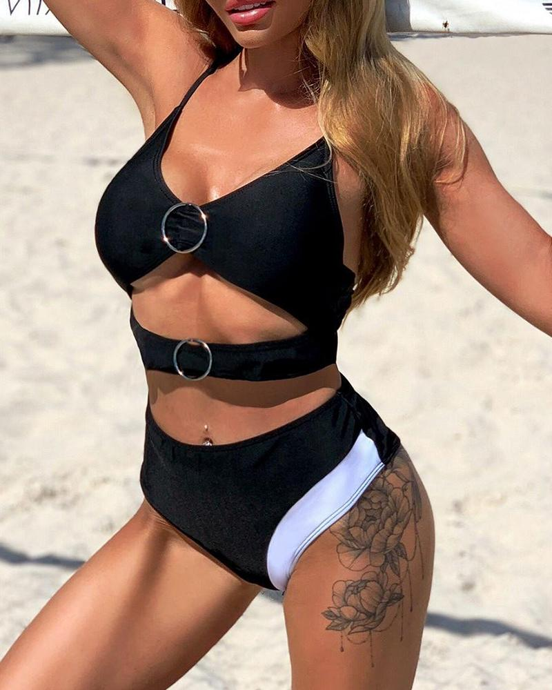 Ring Cut Out Bikini Set