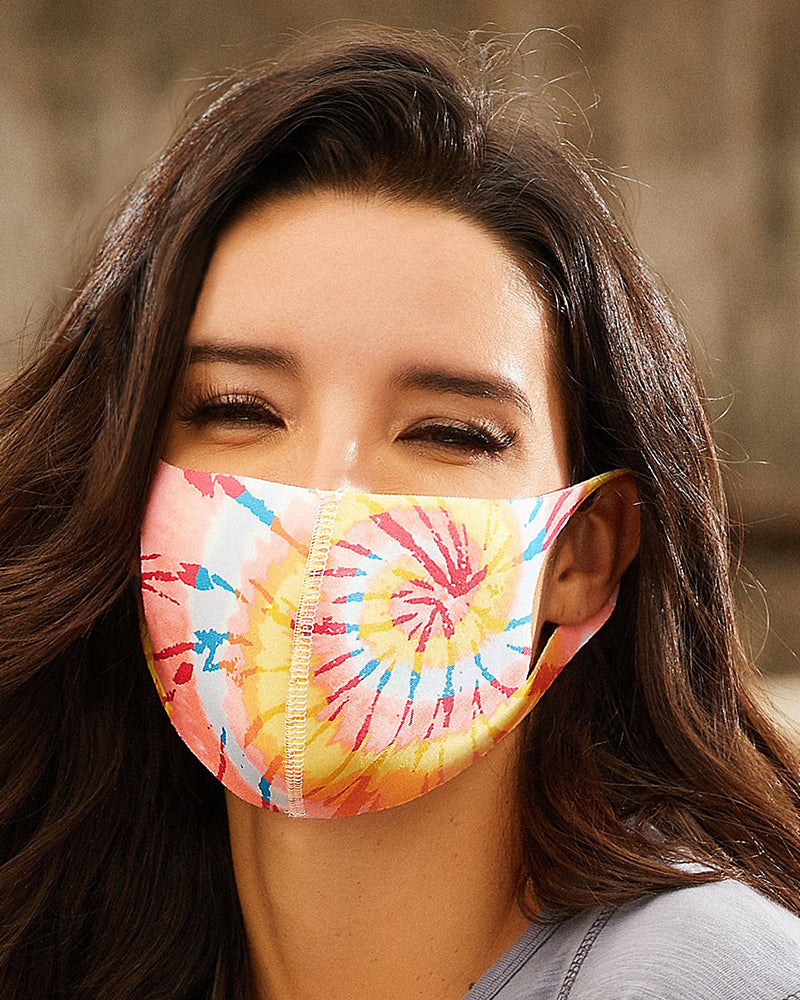 Tie Dye Print Breathable Mouth Mask Washable And Reusable