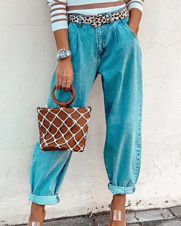 Retro Loose Jeans Pants