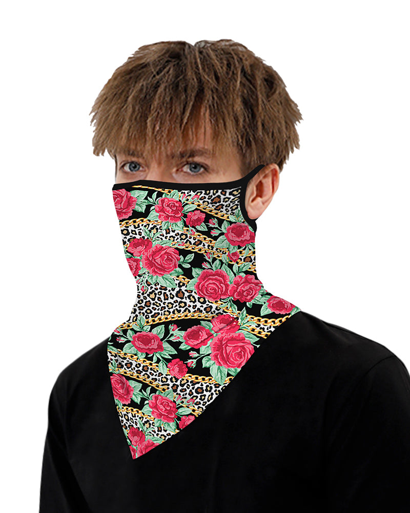 Floral Print Breathable  Ear Loop Face Cover Windproof Motorcycling Dust Outdoors