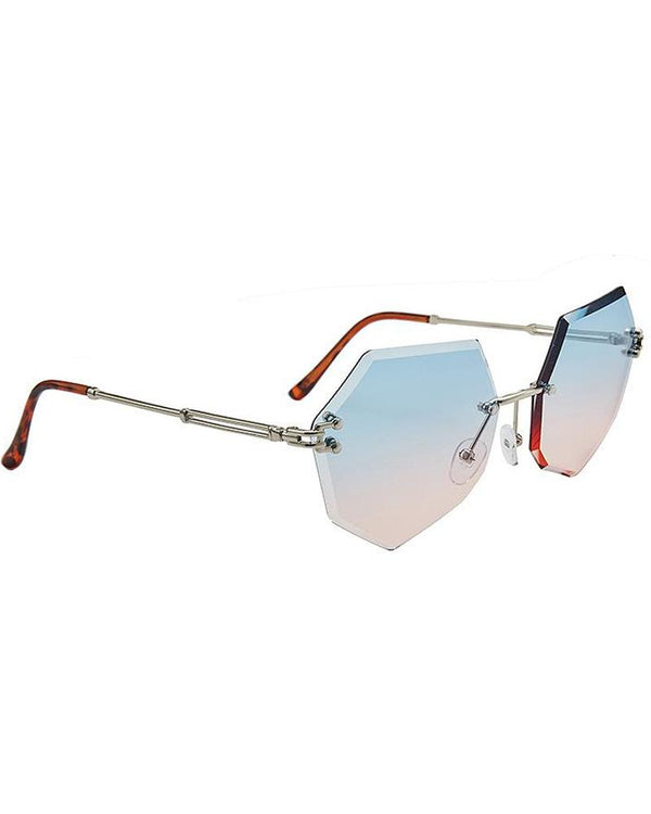 Geometric Rimless Sunglasses