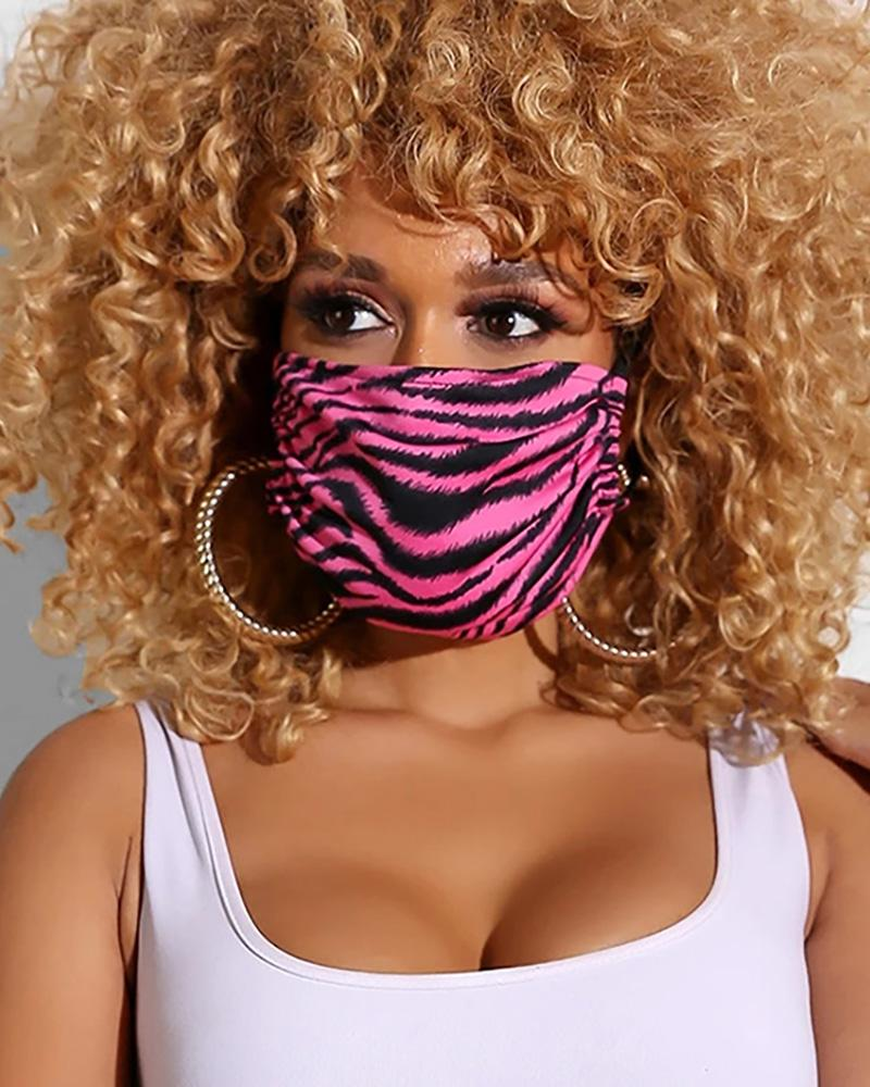Zebra Print Breathable Mouth Mask Washable And Reusable