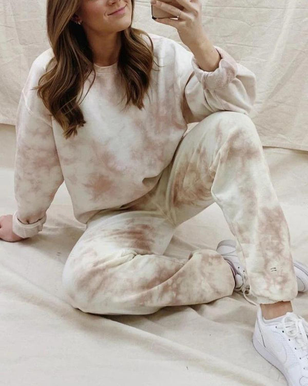 Tie Dye Long Sleeve Homewear Sports Sets