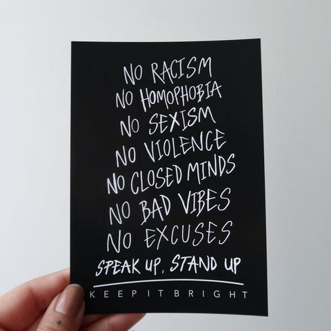 stand up mini print / postcard