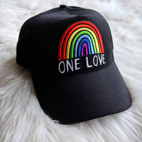 one love embroidered cap