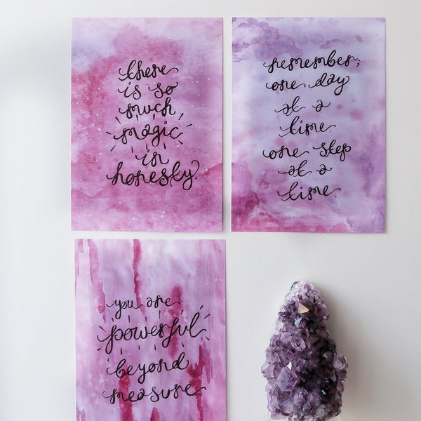 there is so much magic in honesty print