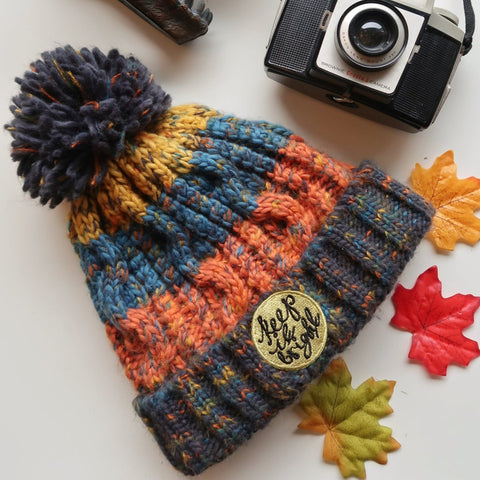 autumn haze bobble hat