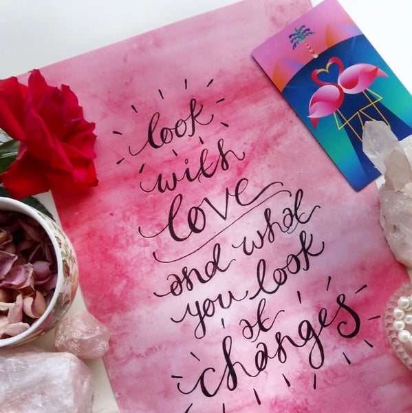 look with love and what you look at changes print
