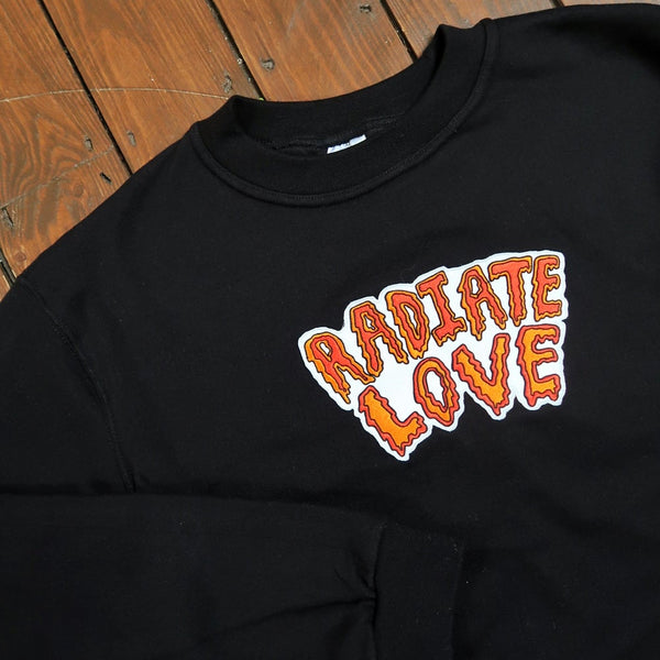 radiate love embroidered sweatshirt - black