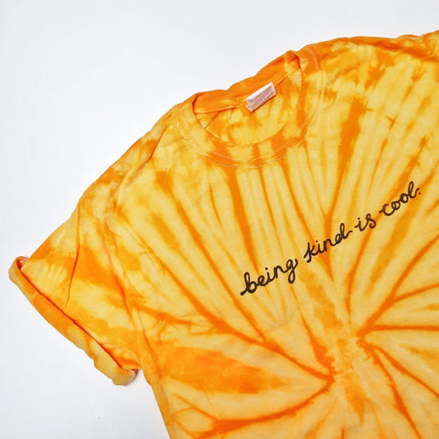 being kind is cool tie-dye t-shirt
