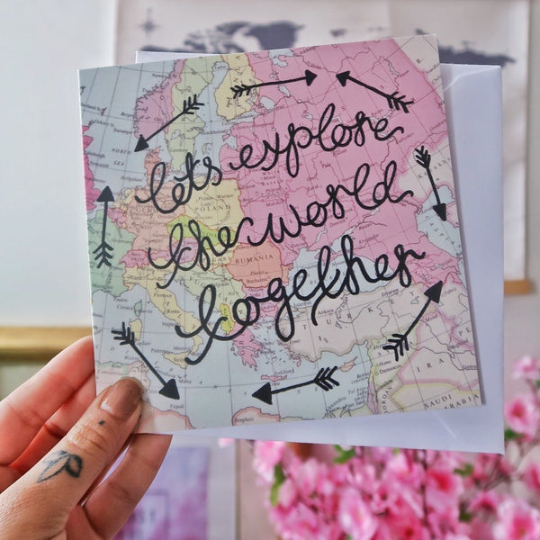 lets explore the world together card