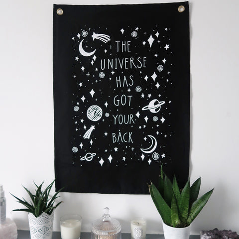 the universe has got your back wall hanging