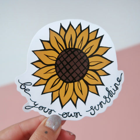 be your own sunshine vinyl stickers