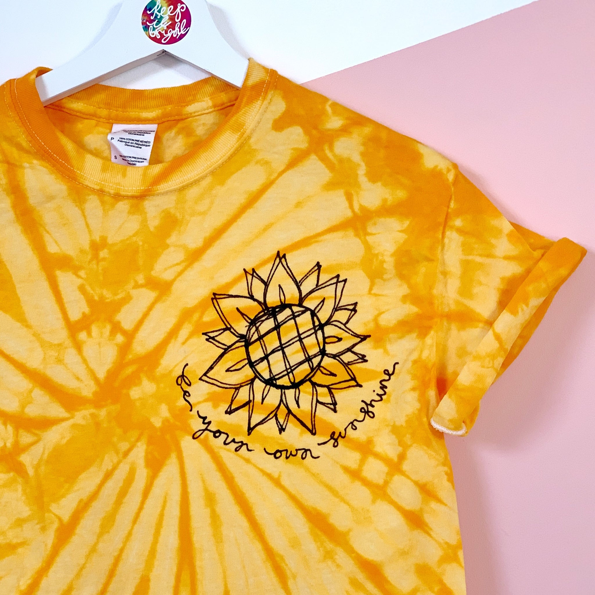 be your own sunshine tie-dye t-shirt