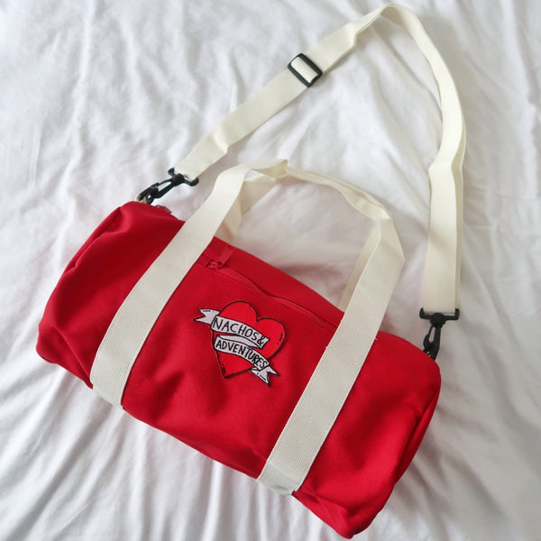 nachos & adventures mini barrel bag