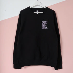 storms don't last forever embroidered sweatshirt - black