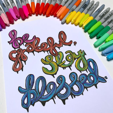 FREE be grateful, stay blessed colouring-in sheet (print-at-home)
