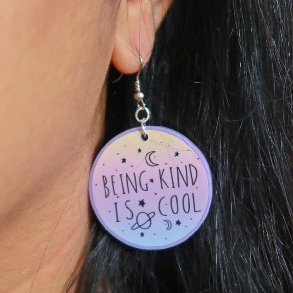 being kind is cool earrings
