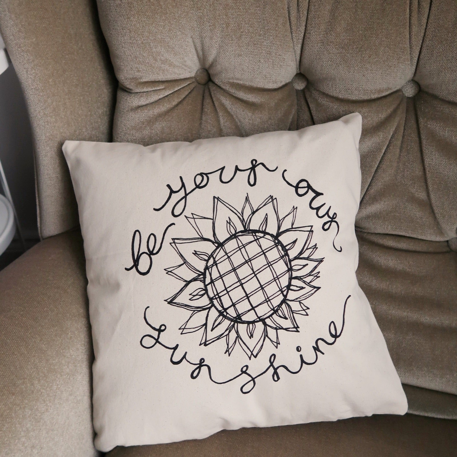 be your own sunshine cushion cover - square