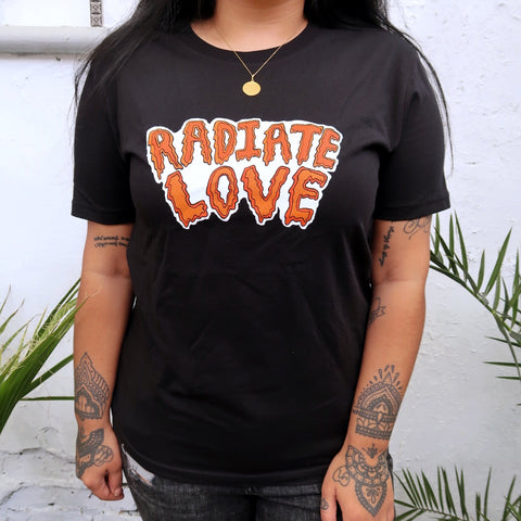 radiate love organic t-shirt - black
