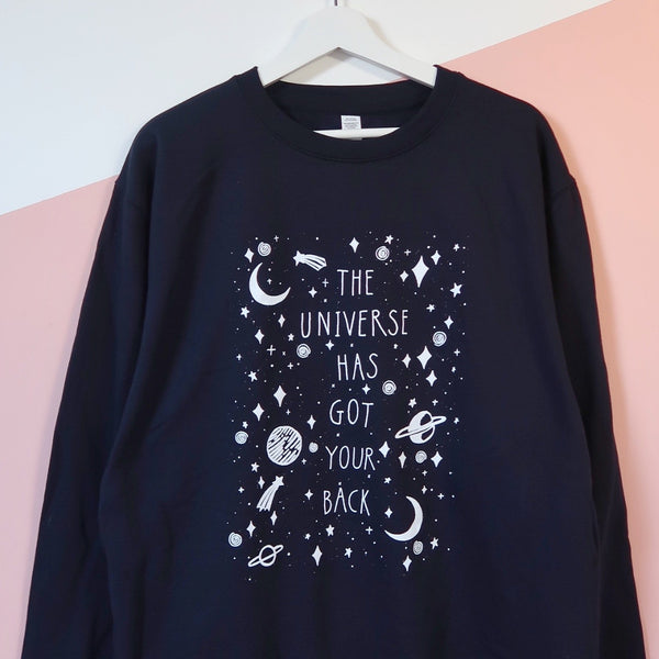 the universe has got your back sweatshirt - navy