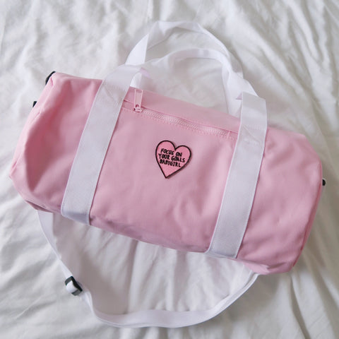focus on your goals babygirl mini barrel bag