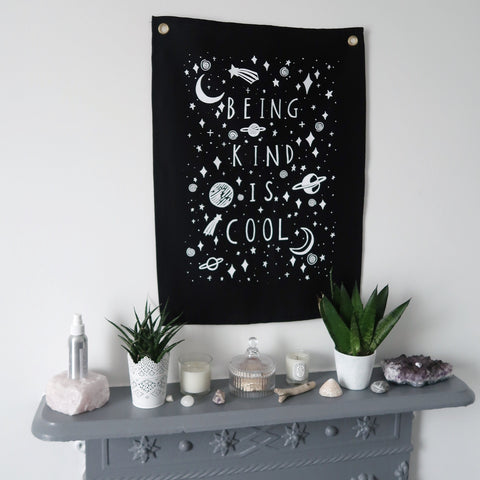 being kind is cool vertical wall hanging