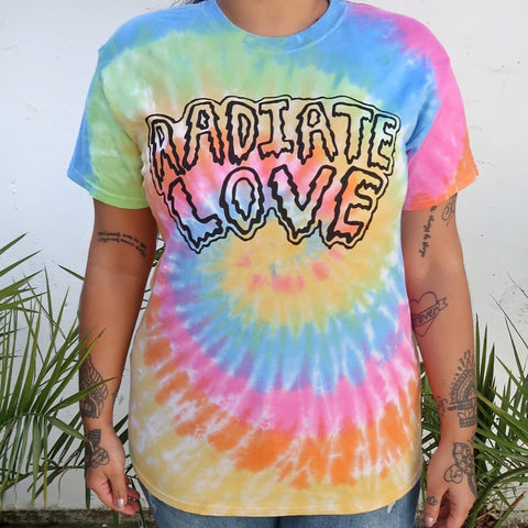 radiate love tie-dye t-shirt - pastel mix