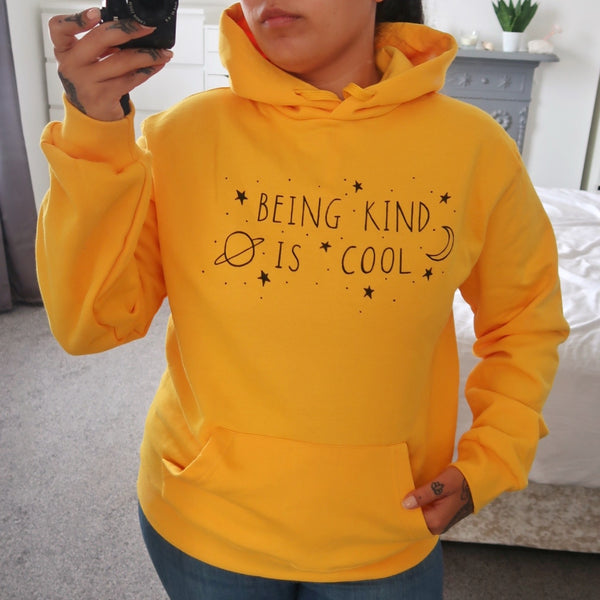 being kind is cool hoodie