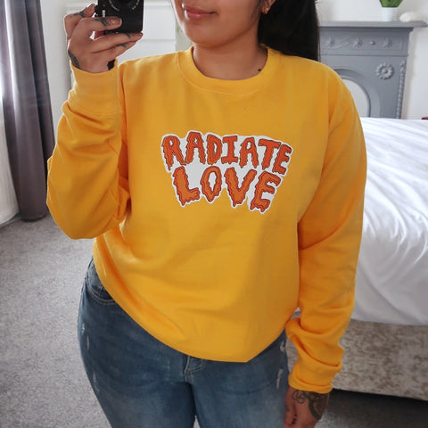 radiate love sweatshirt - yellow