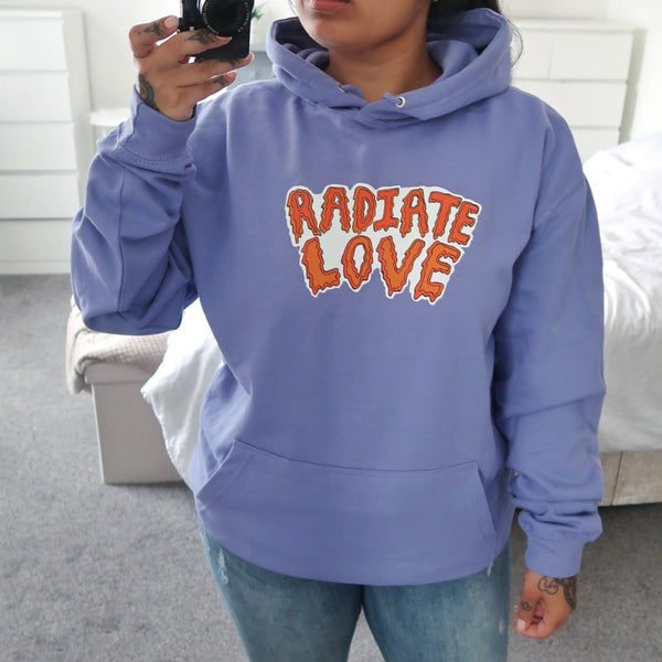 radiate love hoodie - purple