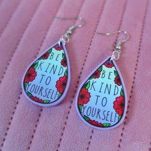 be kind to yourself earrings