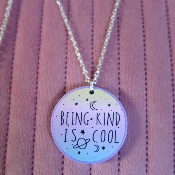 being kind is cool necklace