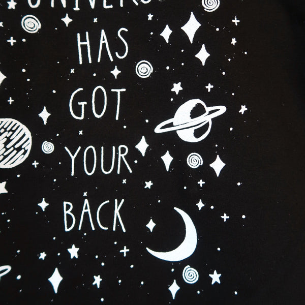 the universe has got your back sweatshirt - black
