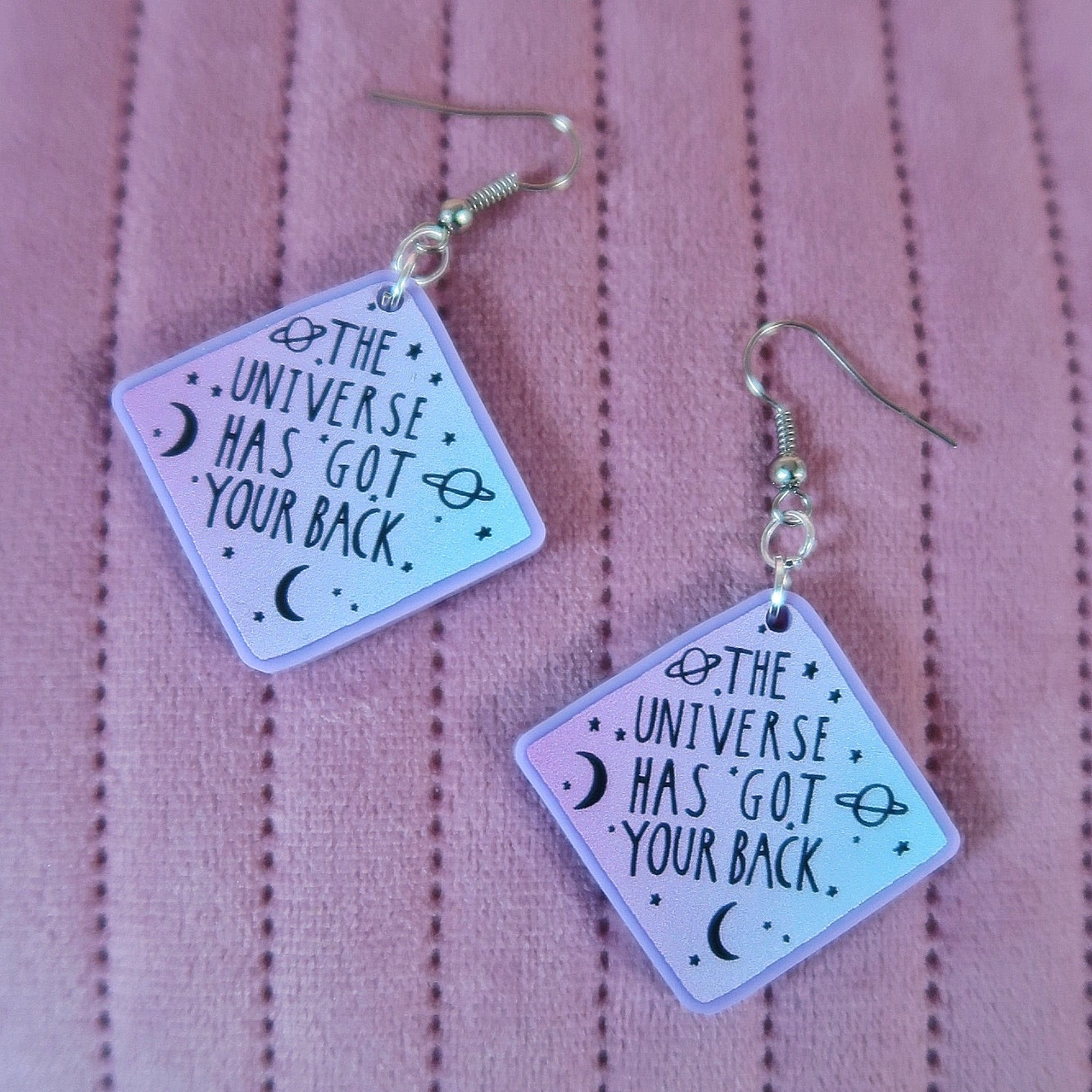 the universe has got your back earrings