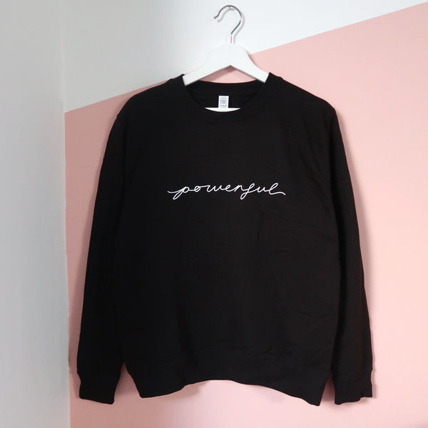 powerful sweatshirt - black