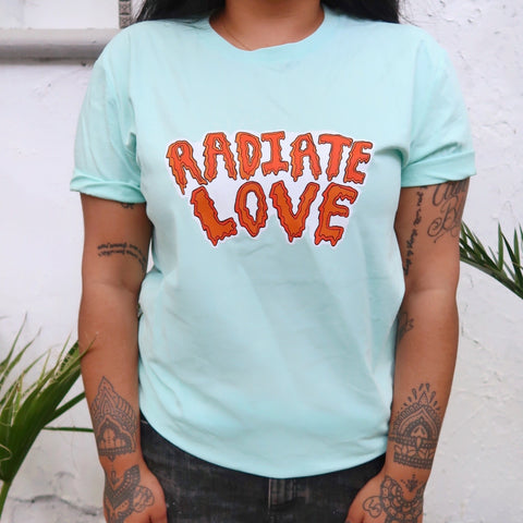 radiate love organic t-shirt - mint